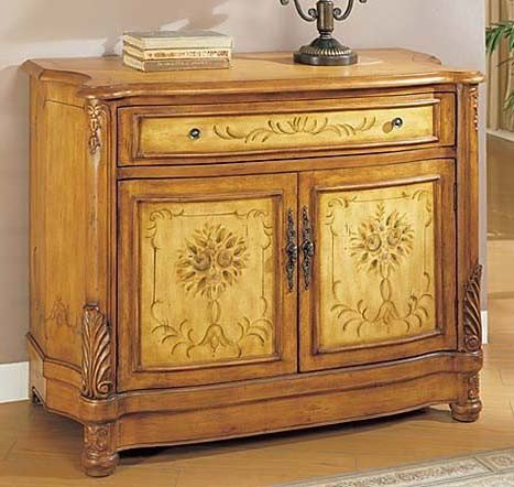 Cheap Console Table Bombe Chest Light Oak Finish (VF_AM9162)