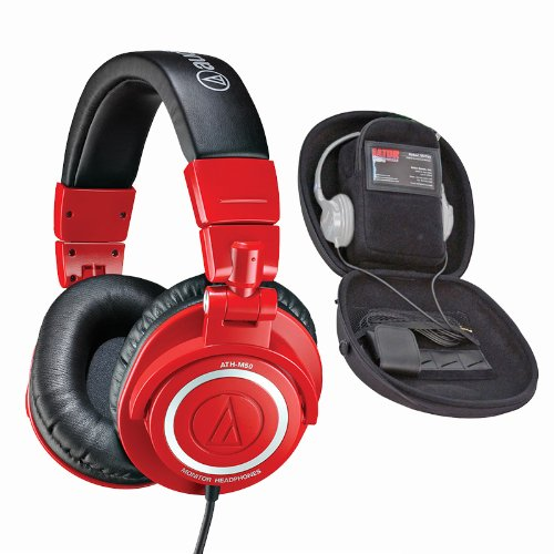 Audio-Technica Professional Studio Headphones (Red)