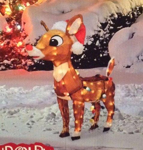 Rudolf The Rednosed Reindeer Outdoor Yard Displays