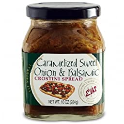 Elki\'s Gourmet Caramelized Sweet Onion and Balsamic Crostini Spread, 10 Ounce
