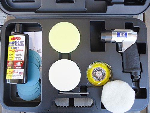 polisseuse-a-la-reparation-des-phares-de-voiture-et-la-feuille-kit