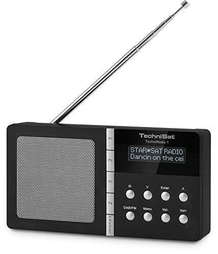 TechniSat TechniRadio 1 - Digitalradio (tragbar, DAB+, DAB, UKW-Empfang, Wecker / Sleeptimer) schwarz
