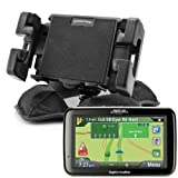 AutoDASHMOUNT Portable Friction Mount with 2 Neck Options (FLEX and PIVOT) - for 3.5, 4.3, 5.0 and 7.0 inch GPS units