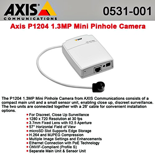 0531-001-p1204-miniature-hdtv-pinhole-camera-axis-communications-network-fixed-surveillance-camera-w