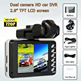 NEW Dual Lens Dashboard Car vehicle Camera Video Recorder DVR CAM 720P 2CH HDMI TWIN Camera by Cloud Accessories ©