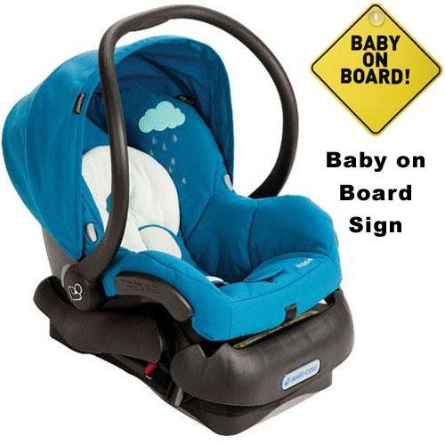 Maxi-Cosi IC099BIO Mico Infant Car Seat w Baby on Board Sign - Misty Blue