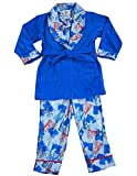 Bunz Kidz - Little Boys 3 Piece Robe and Pajama Set, Light Blue, Royal 35522-6
