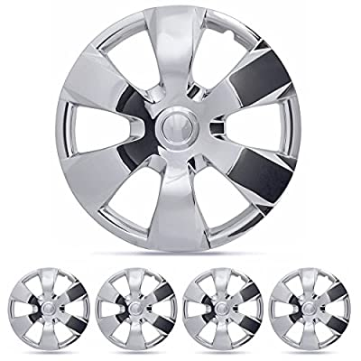 "BDK 4 Piece KT-1000-16"" Chrome, Toyota Camry, 16"" Replacement Hubcaps Wheel Cover"