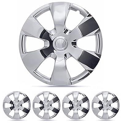 """BDK Toyota Camry Hubcaps Wheel Cover, 16"""" Chrome Replica Cover, (4 Pieces)"""