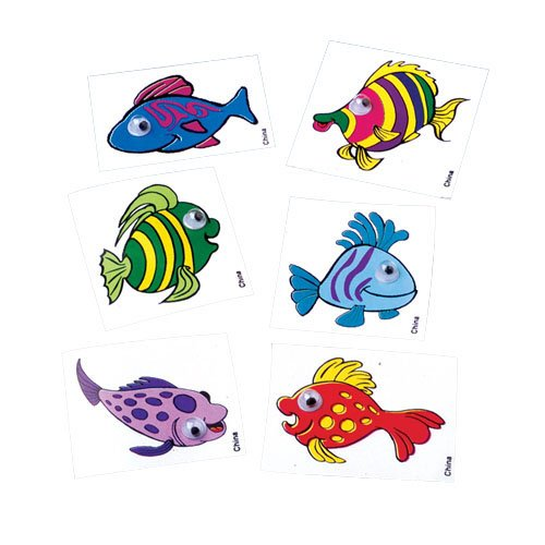 Fish Sticker With Eyes - 1