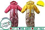 【子供服】 moujonjon (ムージョンジョン) はっ水加工お花リボン柄切替スノーコンビ 100cm~120cm M62187