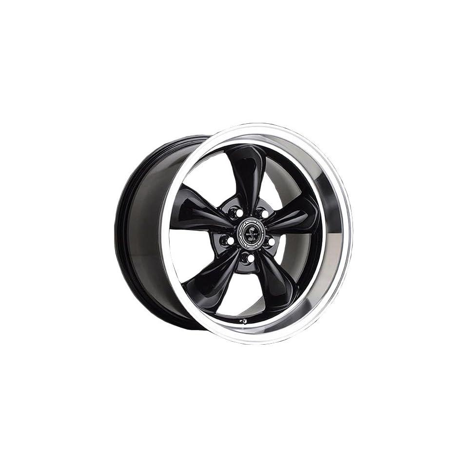 17x9 American Racing Torq Thrust MS (Gloss Black w/ Machined Lip) Wheels/Rims 5x114.3 (SB105MS7966B)