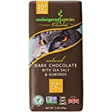 Endangered Species Natural Dark Chocolate with Sea Salt and Almonds Bar, 3 Ounce (Pack of 12)