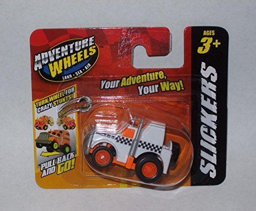Maisto Slickers Adventure Wheels Micro Pull Back Motorized Vehicle (Semi-Truck)