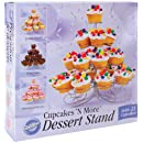 Wilton 307-826 Cupcakes 'n More 23 Count/4-Tier Metal Dessert Stand