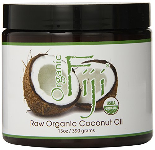 Organic Fiji Raw Organic Coconut Oil, 13-Ounce Jars