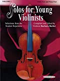 Solos for Young Violinists 3 --- Violon/Piano - Barber, Barbara --- Alfred Publishing
