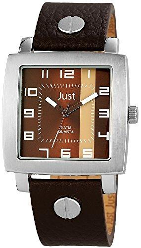 Just Watches 48-S10445-BR - Orologio da polso uomo, pelle, colore: marrone
