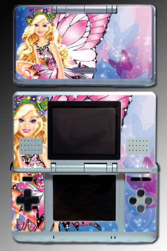Barbie Fairy Princess Girl Game Sticker Vinyl Decal Cover Skin Protector 2 for Nintendo DS