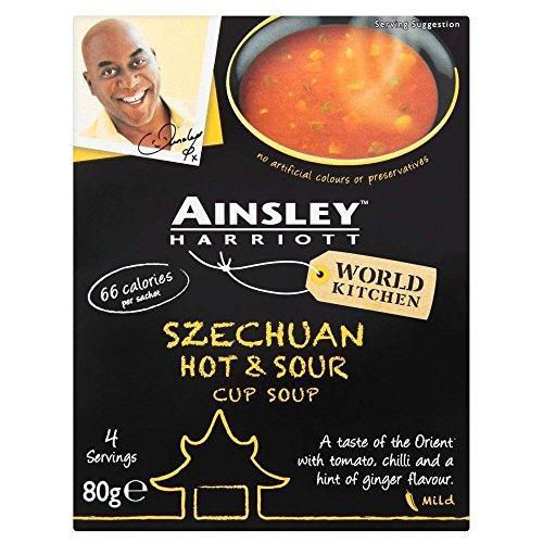 Ainsley Harriott Tasse Suppe Szechuan Scharf-Saure (4 Pro Packung - 80 G)