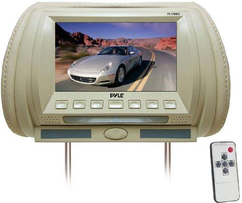 Pyle PL70HRT Adjustable Hideaway Headrest 7-Inch TFT Video Monitor (Tan)