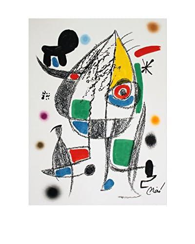 """Joan Miro """"Maravillas #1072"""" 1975 Unframed Poster, Multi"""