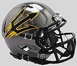 Arizona State Sun Devils - Chrome Alternate Speed Riddell Mini Football Helmet - New in Riddell Box