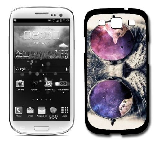 Galaxy Hipster Cat Samsung Galaxy S3 Siii I9300 Case Fits Samsung Galaxy S3 Siii I9300