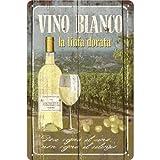 白ワイン Vino Bianco / ブリキ看板 TIN SIGN