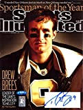 Drew Brees Signed New Orleans Saints Sports Illustrated Sportsman of the Year Cover Magazine - Autographed NFL Magazines