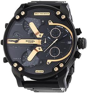 diesel dz7312 montre homme quartz chronographe bracelet acier inoxydable noir. Black Bedroom Furniture Sets. Home Design Ideas