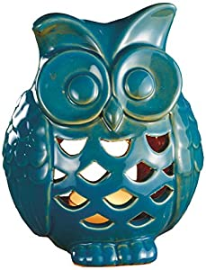 Biedermann & Sons Stoneware Owl Tealight Candle Holder