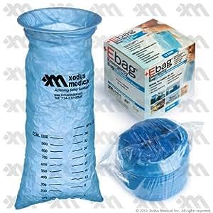 Blue Emesis Bag 40 Oz. (1000ml) 12 Per Case