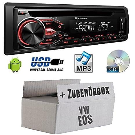 VW Eos - Pioneer DEH-1800UB - CD/MP3/USB Autoradio - Einbauset