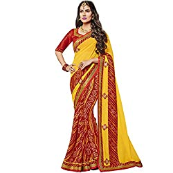 Vasu Saree Majesty Yellow Colour Georgette Designer Saree