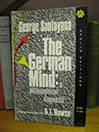 The German Mind: A Philosophical Diagnosis…