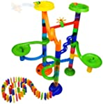 88 Pcs Marble Run Race and Domino Ral...
