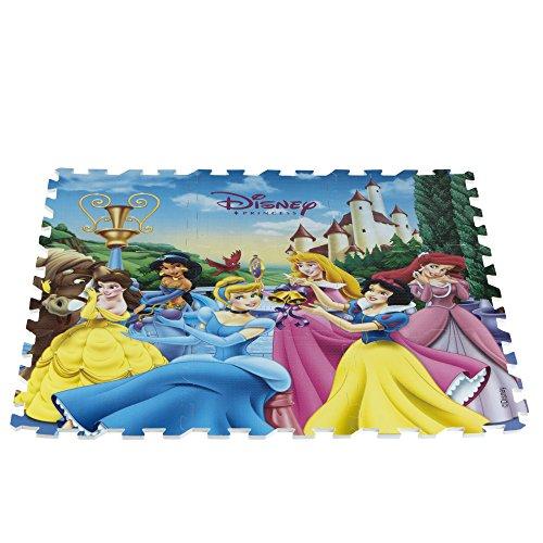 ColorBaby - Alfombra puzzle goma Princesas Disney, 9 piezas, 90 x 90 cm (48056)