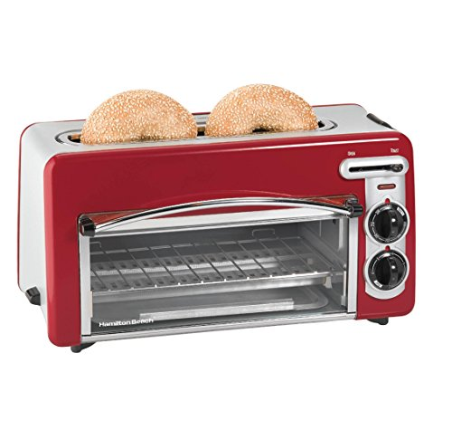 Hamilton Beach Toastation 2-in-1 2-Slice Toaster & Oven (Red) (Small 2 Slice Toaster Oven compare prices)