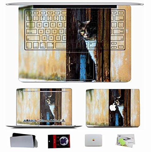 10 Pcs Macbook Pro/Air 11 13 15 Inch Skin Decal Sticker - Animals Door Cat Wall