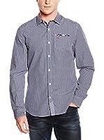 Napapijri Camisa Hombre Genai (Azul / Blanco)