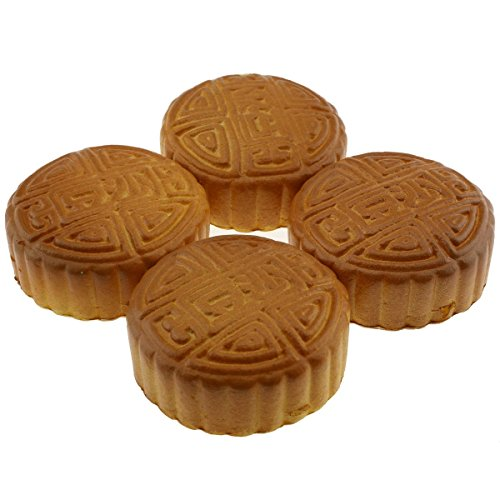 Moving Box 4 PCS PU Material Fake Cake Artificial Bread Mooncake Decoration Model Kitchen Toys Prop - 1