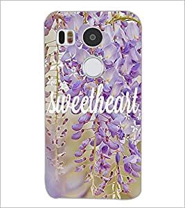 PrintDhaba Sweetheart D-4183 Back Case Cover for LG NEXUS 5X (Multi-Coloured)