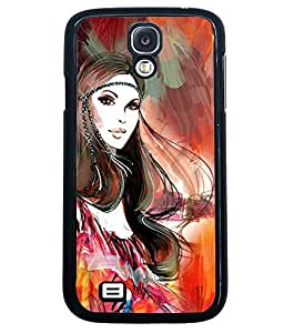 Fuson Princess Pattern Back Case Cover for SAMSUNG GALAXY S4 - D4062