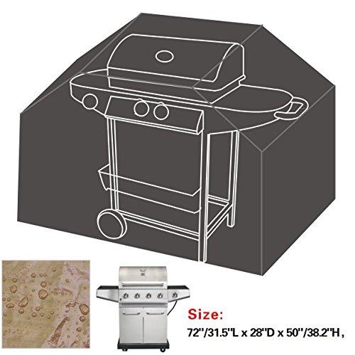 """Bbq Protector Outdoor New 72""""/31.5""""L * 28"""" D * 50""""/38.2"""" T Classic Veranda Cart Gas Grill Barbeque Cover-Grey"""