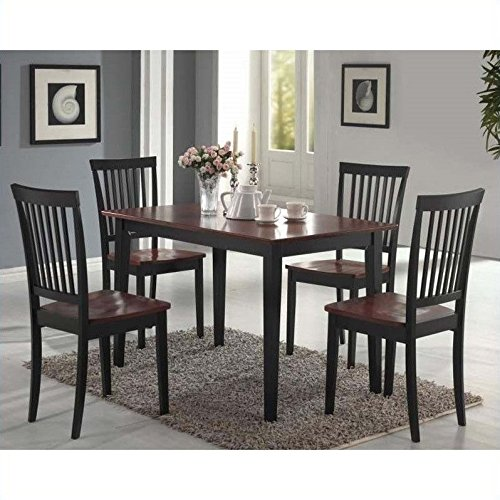 coaster-5-piece-dining-set-table-top-with-4-chairs-deep-cappuccino-with-cherry-tops