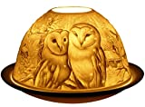 Welink-Light-Glow-Tealight-Candle-Holder-Barn-Owls