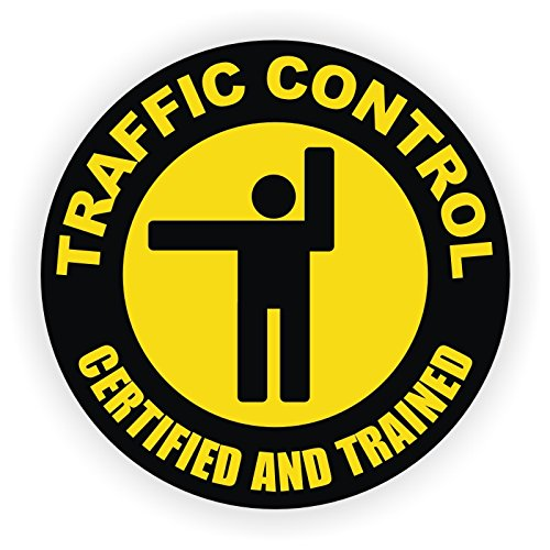 Traffic Control Hard Hat Sticker / Helmet Decal Label Lunch Tool Box Flagger Safety (Traffic Control Equipment compare prices)