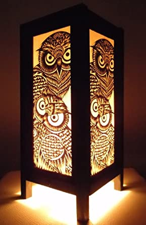 Thai Vintage Handmade Asian Oriental Handcraft Night Owl