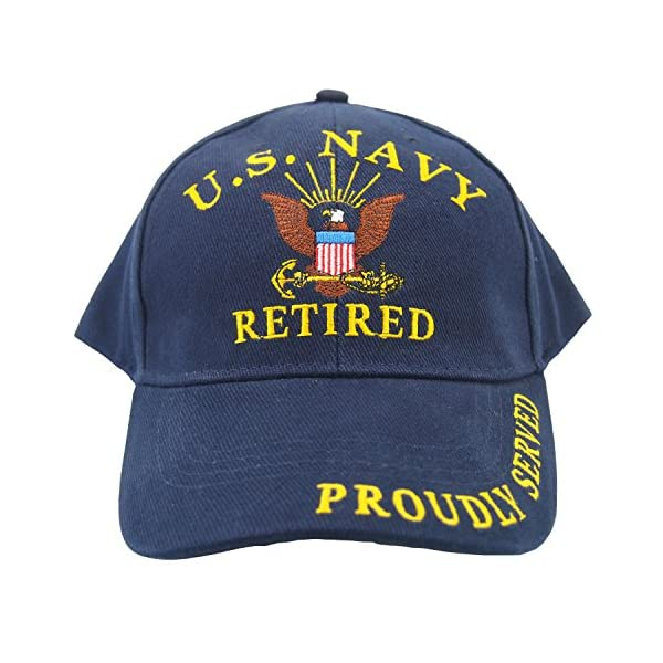 Eagle Emblems Men s U.S. Navy Retired Hat - AMERICAN CHRISTIAN STORE d1c877e8be75